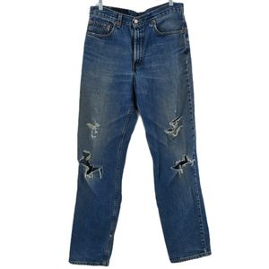Levi's Vintage 550 THRASHED Distressed Relaxed 34